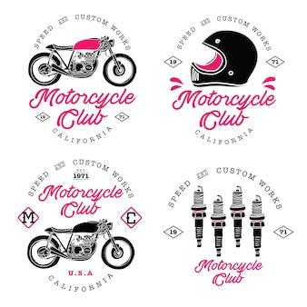 Logo d'insigne moto vintage personnalisé