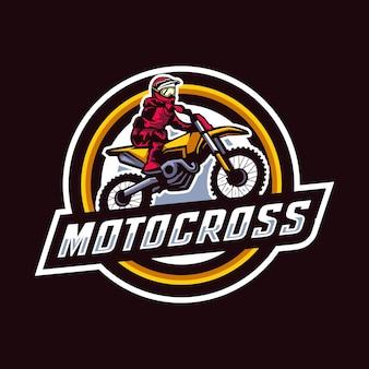 Logo d'insigne de motocross