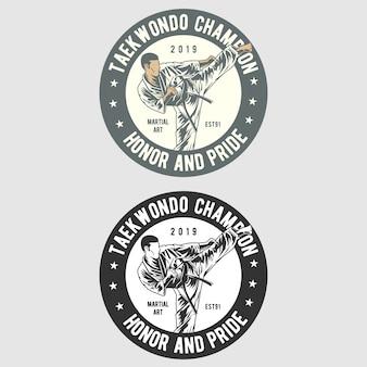 Logo d'insigne de taekwondo