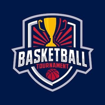Logo d'insigne de tournoi de basket-ball