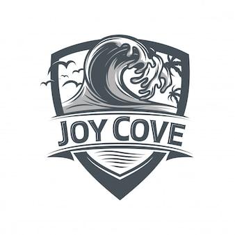 Logo d'insigne de vague