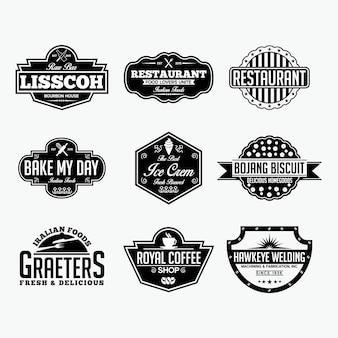 Logo et insignes vintage labels