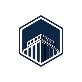 Logo inspiration de construction immobilier architecture hypothécaire