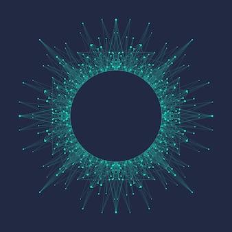 Logo intelligence artificielle. concept d'intelligence artificielle et d'apprentissage automatique. symbole de vecteur ai. réseaux de neurones et autres concepts de technologies modernes. bannière informatique quantique.