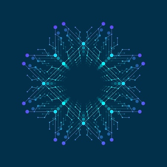 Logo de l'intelligence artificielle, icône. symbole de vecteur ai. apprentissage en profondeur et conception de concept de technologie future.