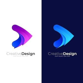 Logo de jeu abstrait.