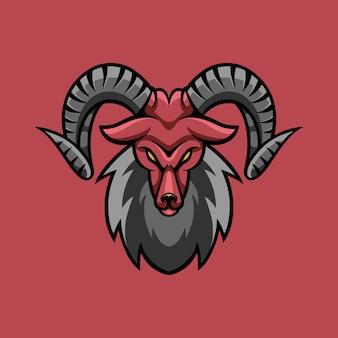 Logo de jeu agressif de chèvre esport