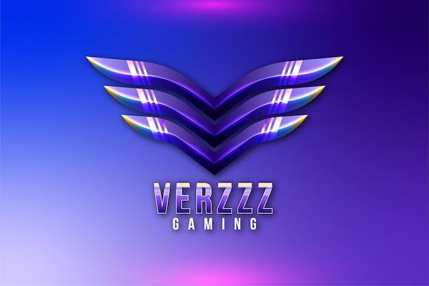 Logo de jeu d'ailes