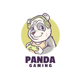 Logo de jeu amusant panda
