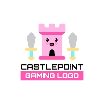 Logo de jeu de castlepoint mignon