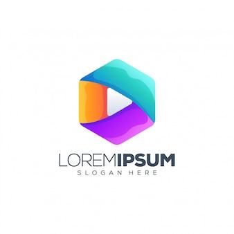 Logo de jeu coloré