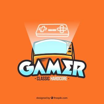 Logo de jeu avec console
