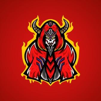 Logo de jeu de crâne de monstre esport
