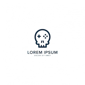 Logo de jeu de crâne