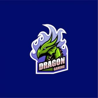 Logo de jeu de dragon