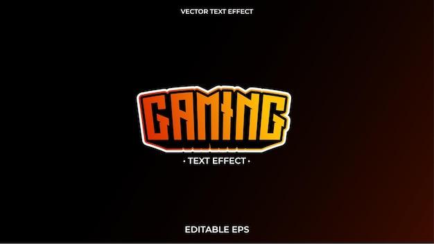 Logo de jeu à effet de texte