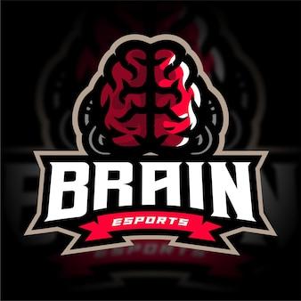 Logo de jeu d'esport cérébral