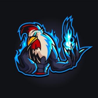 Logo de jeu d'esport de coq