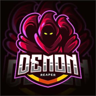 Logo de jeu esport demon reaper