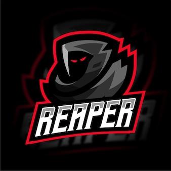 Logo de jeu esport grimreaper