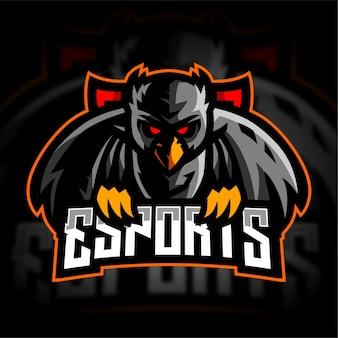 Logo de jeu esport hibou