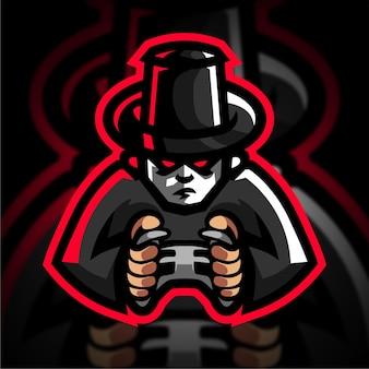 Logo de jeu d'esport de joueur de mafia