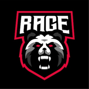 Logo de jeu esport rage panda