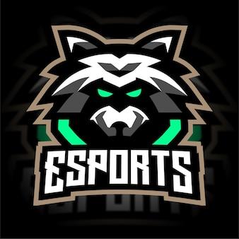Logo de jeu d'esport de raton laveur