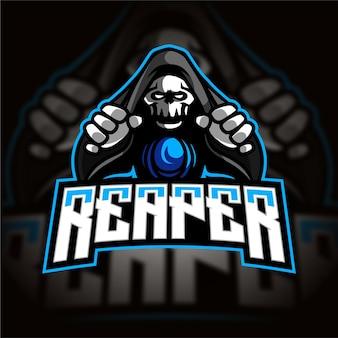 Logo de jeu esport reaper mage
