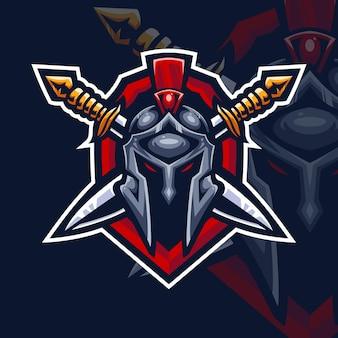 Logo de jeu esport sparta knight