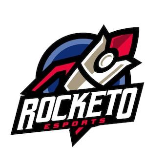 Logo de jeu de fusée e sport