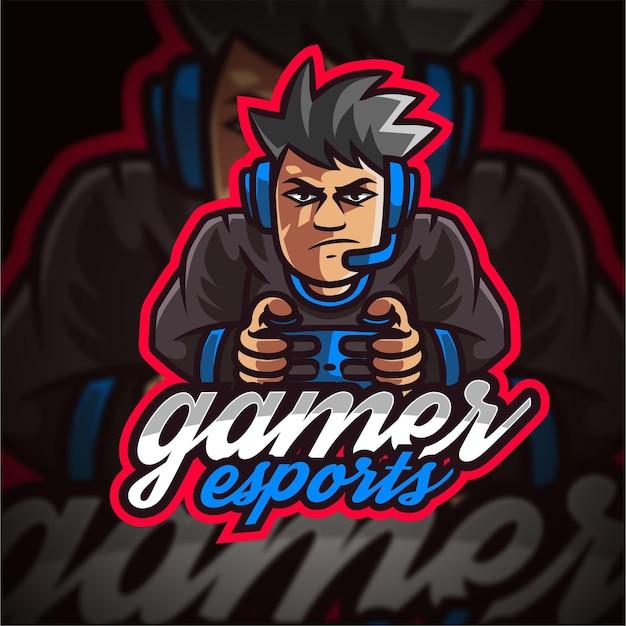 Logo de jeu gamer esport