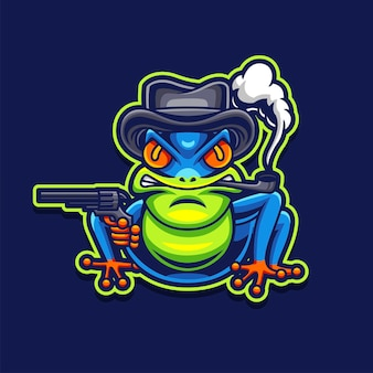 Logo de jeu de grenouille