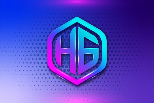 Logo de jeu de lettre hg
