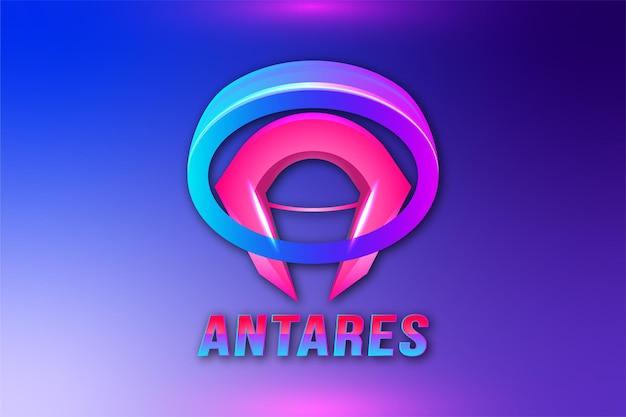 Logo de jeu de lettre a