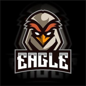 Logo de jeu de mascotte d'aigle