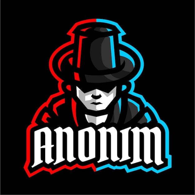 Logo de jeu de mascotte anonim