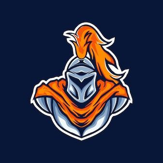 Logo de jeu de mascotte chevalier