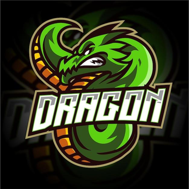 Logo de jeu de mascotte de dragon