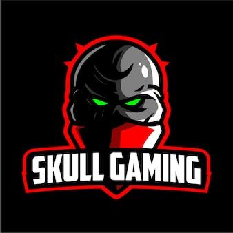 Logo de jeu de la mascotte du crâne