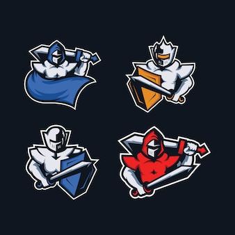 Logo de jeu de la mascotte ninja pour l'équipe d'esport
