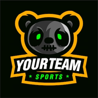 Logo de jeu mascotte p panda