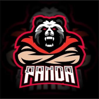 Logo de jeu de mascotte de panda