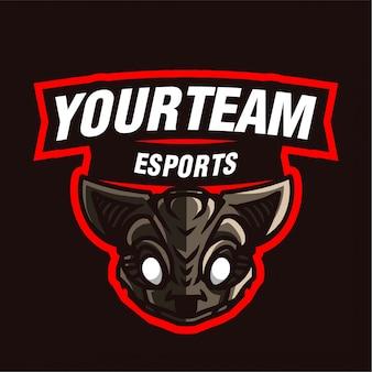 Logo de jeu de la mascotte de rat