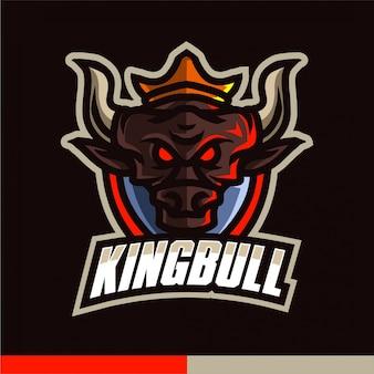Logo de jeu mascotte roi taureau