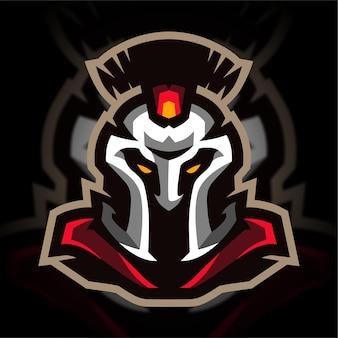 Logo de jeu de mascotte spartiate