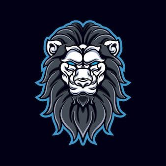 Logo de jeu de mascotte tête de lion