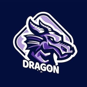 Logo de jeu de mascottes de dragon