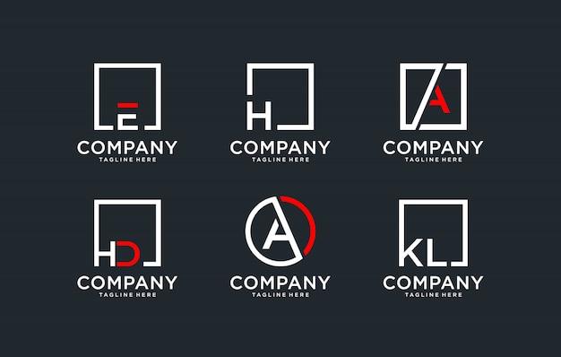 Logo de jeu de monogramme