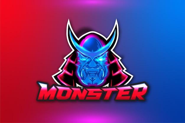 Logo de jeu de monstre
